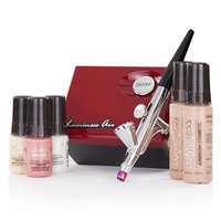 Luminess Air Red & Black Legend Airbrush System with 5 Piece Deluxe Airbrush Foundation & Cosmetic Starter Kit