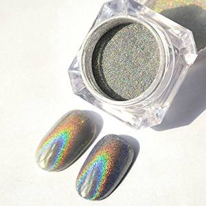 Holographic Laser Powder Nail Glitter Rainbow Pigment Manicure Chrome Pigments