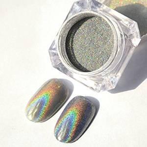 Holographic Laser Powder Nail Glitter Rainbow Pigment Manicure Chrome Pigments