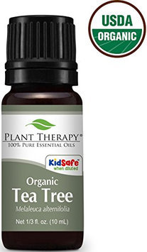 Plant Therapy USDA Certified Organic Tea Tree (Melaleuca) Essential Oil. 100% Pure