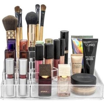 Sorbus Acrylic Cosmetics Makeup and Jewelry Storage Case Display Top-Glamorous, Space-Saving, Stylish Acrylic Bathroom Organizer (Top Style 1 )