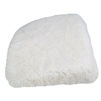 Car Boost Seat Cushion - White Fleece