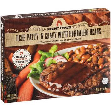 Night Hawk Beef Patty 'N Gravy with Borracho Beans Frozen Entree, 8.8 oz