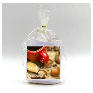 Hazelnut Cappuccino Vase Candle Refill 50 Hour Burn Time Premium Soy Paraffin Wax Blend Highly Scented Self-Trimming Wick