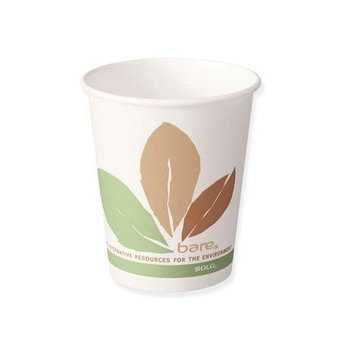 SCC412PLNBB - Solo Paper Hot Cups - Single Polylined 12OZ.