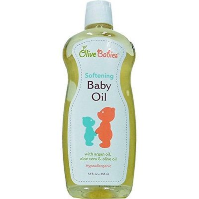 Olive Babies Softening Baby Oil, 12.0 FL OZ