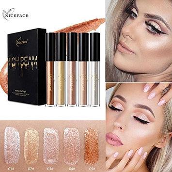 Creazy Makeup Naked Smoky Eyeshadow Silky Highlight Silkworm Bright Liquid Concealer