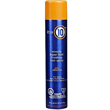 It's a 10 Miracle Super Hold Finishing Spray Plus Keratin, 10 oz (Pack of 4)