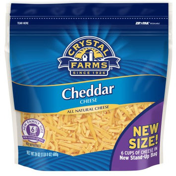 Crystal Farms Cheddar Shredded Cheese, 24oz