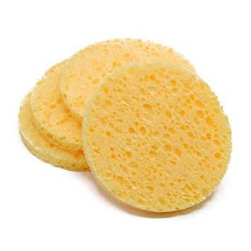 Body Sponge Denpetec Natural Wood Fiber Luxury Bath Facial Washcleaning Sponge for Bathing, Cleansing, Exfoliating and Applying Cosmetics, Sponge Puff Pad
