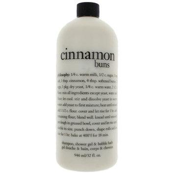 Philosophy Shampoo Shower Gel & Bubble Bath,Cinnamon Buns, 32 Ounce