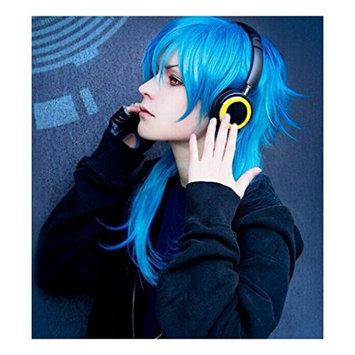 Kadiya Anime Blue Medium Length Boy Cosplay Wigs Costume Full Hair