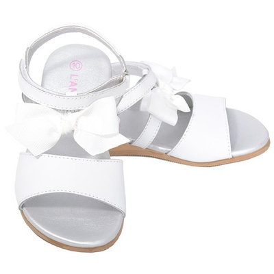 L'Amour White Bow Straps Spring Summer Sandals Little Girls 11-4