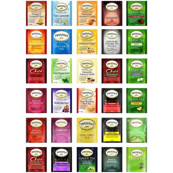 Twinings Tea Variety Premium Sampler, Includes a Mixture of Green, Herbal, Black and Chai Teas