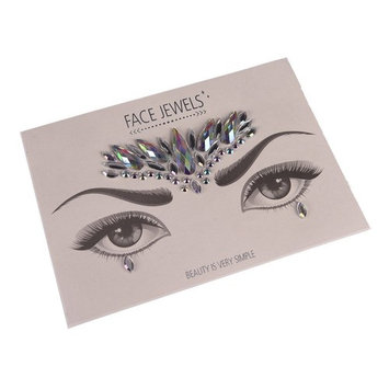 1 Set Face Jewels Gem Bindi Body Jewelry Stickers Rhinestone Tattoo Temporary Face Rocks by Team-Management