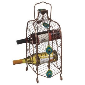 Cc Home Furnishings 16 Contemporary Peacock Eye Inspired Wine Rack - 5 Bottle Storage