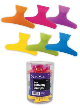 Soft 'N Style Neon Butterfly Clamps