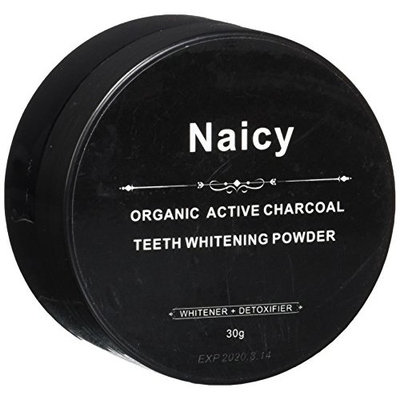 Naicy Pure Active Charcoal Teeth Whitening Powder - Natural & Organic Tooth Whitener with Activated Carbon Coco for Whiting Teeth
