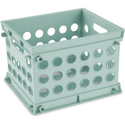 Sterilite Mini Crate, Classic Mint, Set of 24