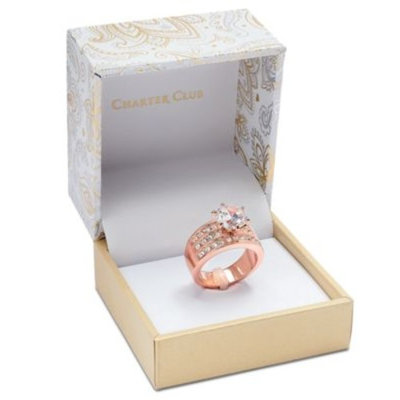 Rose Gold-Tone Crystal Triple-Row Ring, Created for Macy's