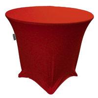 LA Linen TCSpandex36Rx30H-RedX98 Round Spandex Tablecloth Red - 36 x 30 in.