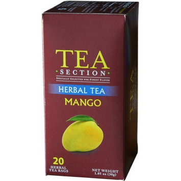 Tea Section Mango Herbal Tea 20 Bags - Case of 6