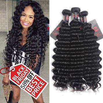 Virgin Brazilian Hair Deep Wave 3 Bundles Mixed Length 14 16 18 inch Brazilian Curly Virgin Hair Remy Hair Weave Human Hair Extensions 300g