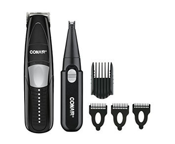 Conair for Men 2-in-1 Beard & Mustache Trimmer; Cordless - Battery Operated