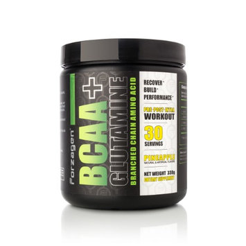Forzagen BCAA + Glutamine Branched Chain Amino Acid Pre-Post-Intra Workout - Pineapple
