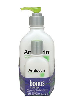 AmLactin Alpha-Hydroxy Therapy Body Lotion with Free Travel Size Moisturizer for Dry Skin