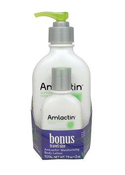 AmLactin Alpha-Hydroxy Therapy Body Lotion with Free Travel Size Moisturizer for Dry Skin