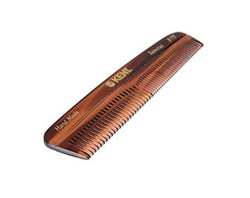 Kent The Handmade Comb - Fine and Coarse Toothed Pocket Comb Sawcut R7T