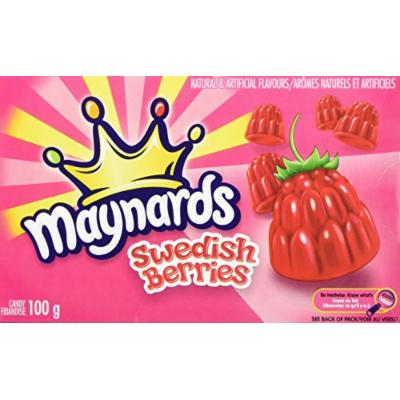 6 -Pack of Maynard's Swedish Berries (100g / 3.5oz) Made in Canada