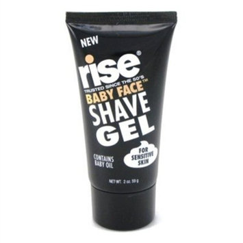 Rise non foaming Shave Gel Baby Face 2 oz. Sensitive Skin with Baby Oil