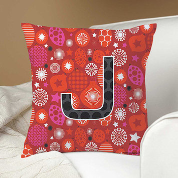 Personalized Robin Zingone Holiday Pillow, Red