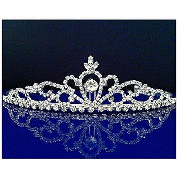 Rhinestones Crystal Wedding Bridal Prom Pageant Princess Tiara Crown 25306