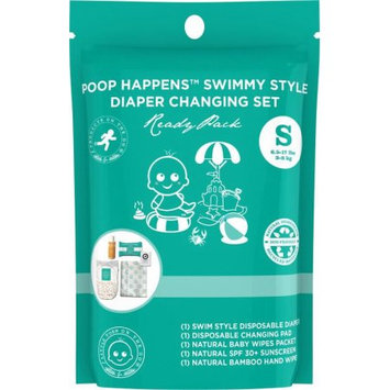 Products on the Go POTG1091 Poop Happens Swimmy Style One Complete Diaper Change Set & Sun Care Small