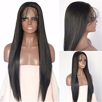 Black Straight Blogger Daily Makeup Women Synthetic Lace Front Wigs With Baby Hair