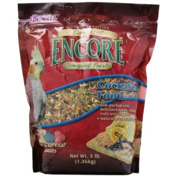 Brown's Encore Gourmet Foraging Feast Cockatiel Food, 3 lbs.