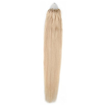 Bewish Brand New 100% Remy Human Easy Loop Micro Ring Beads Tipped Hair Extensions Straight 0.5g/Strand 50 Strands/Pack Total 25g