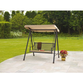 Keysheen Industry shanghai Co., Ltd. Mainstays Bellingham 2-Seat Wrought Iron Cushion Swing, Tan