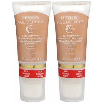 Revlon Age Defying Spa Face Illuminator, Gold Light (030), (Quantity of 2)
