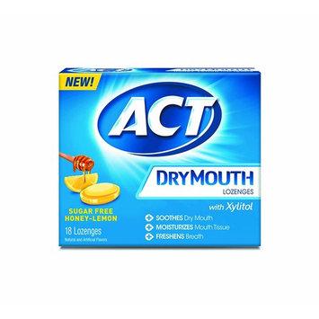Act Dry Mouth Lozenges, Honey Lemon, Sugar Free, 18 Count