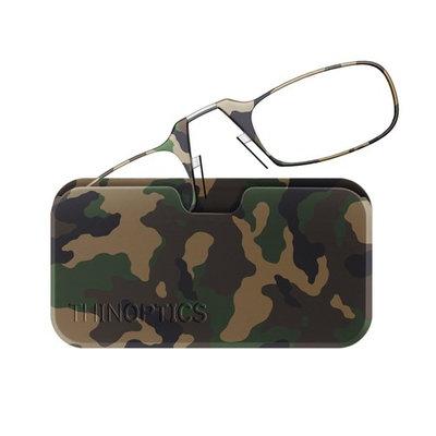 ThinOptics Reading Glasses + Universal Pod Case   Camouflage Collection, Classic Woodland, 2.00 Strength