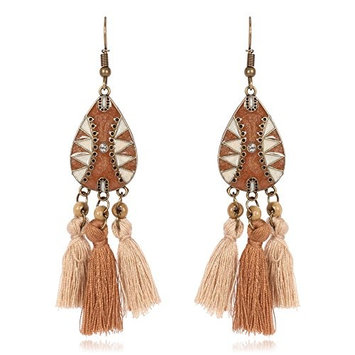 FXmimior Fashion Women Vintage Bohe Feather Tassels Earrings Women for Christmas Xmas Jewelry for Girl Women