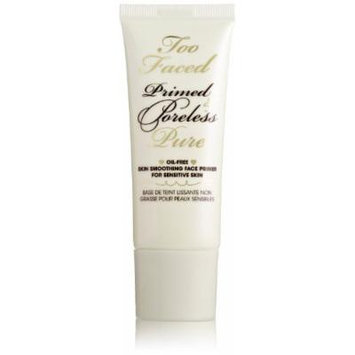 Too Faced Prime and Poreless Pure Oil-Free Skin Smoothing Face Primer For Sensitive Skin, 1 Fluid Ounce