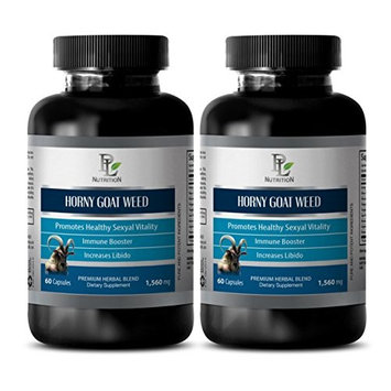 Libido plus - HORNY GOAT WEED EXTRACT - Horny goat weed powder extract - 2 Bottle 120 Capsules