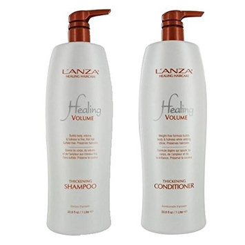 Lanza Healing Volume Thickening Shampoo & Conditioner Liter Duo