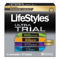 LifeStyles Pleasure Pack Lubricated Latex Condoms - 30 Count