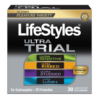 LifeStyles Pleasure Pack Lubricated Latex Condoms - 30 Count